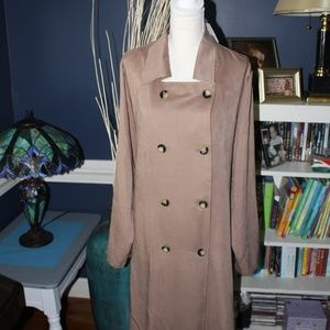 NWT Just Fab Light Weight Belted Trench Coat Sz 3x
